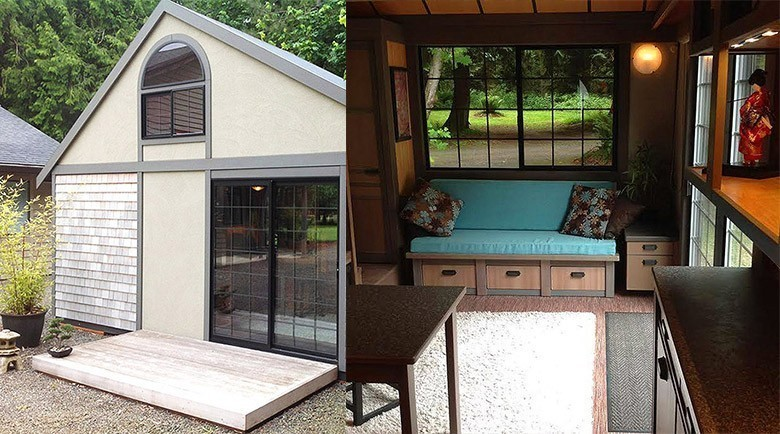 chris vous fait visiter sa tiny house asiatique de 26m. Black Bedroom Furniture Sets. Home Design Ideas