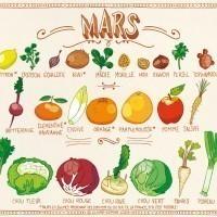 Fruits & légumes de Mars, le calendrier est arrivé !