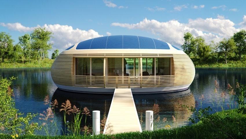 nid d eau la maison flottante cologique et autonome. Black Bedroom Furniture Sets. Home Design Ideas