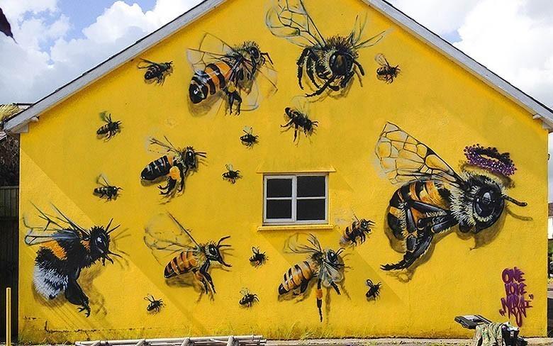 Les abeilles envahissent les murs de Londres et c'est positif !