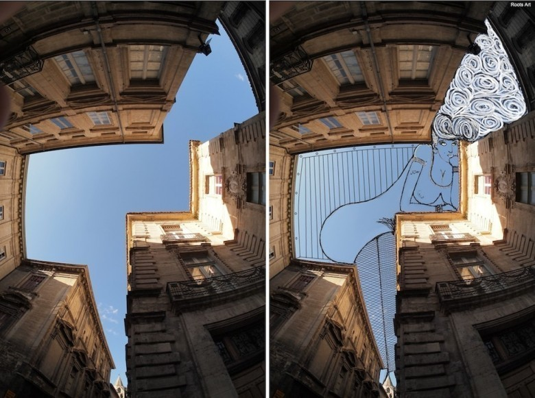 Ce français transforme le ciel en illustrations graphiques