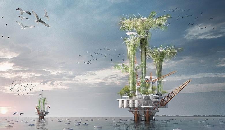 Des plateformes pétrolières muées en havres de paix écologiques Noah_oil_rigs