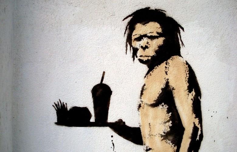 OGM : Quand l'Union européenne se soumet au diktat des cartels semenciers Banksy-caveman-e1430608362856
