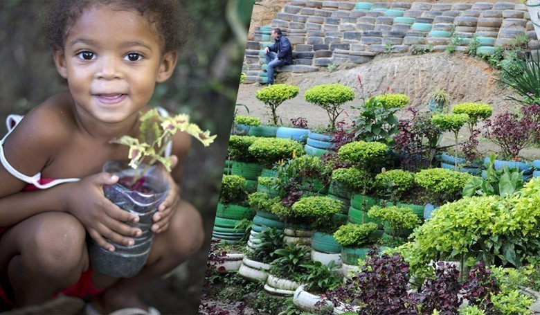 Ils transforment un tas d'ordures en Oasis au cœur d'une favela