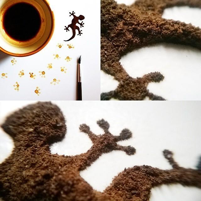 Un indonésien transforme des restes de café en œuvres exceptionnelles 10723935_1505327433068356_158399384_n