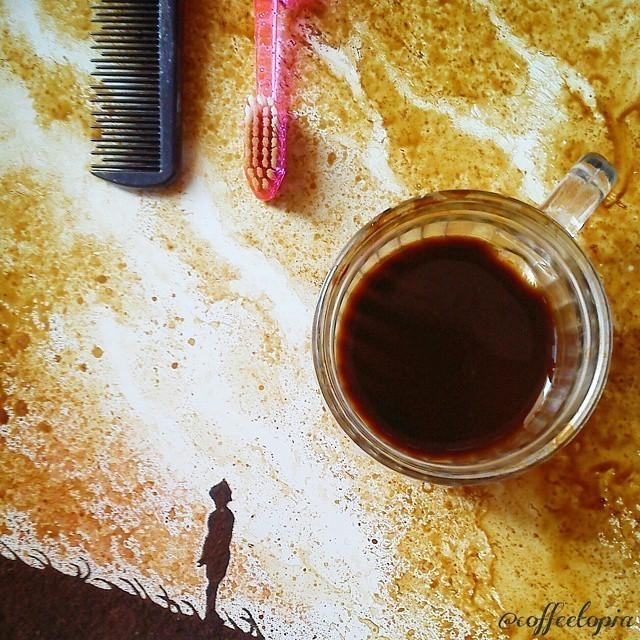 Un indonésien transforme des restes de café en œuvres exceptionnelles 928761_1554667981454973_1591555122_n