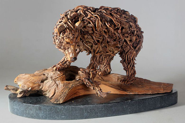 Le créateur des bois perdus  Bear-and-Salmon-James-Doran-Webb