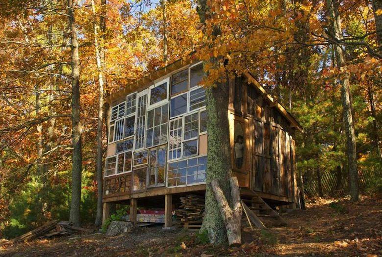 la cabane de verre ou l art de construire la maison de ses r ves pour 500 mr mondialisation. Black Bedroom Furniture Sets. Home Design Ideas