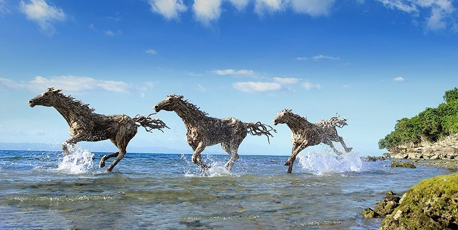 Sculptures-de-Chevaux-en-Bois-Flotte-par-James-Doran-Webb-03