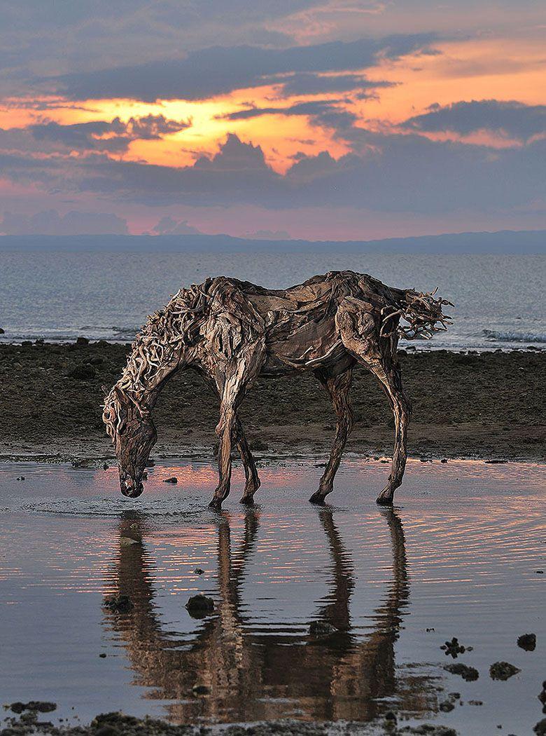 Sculptures-de-Chevaux-en-Bois-Flotte-par-James-Doran-Webb-09