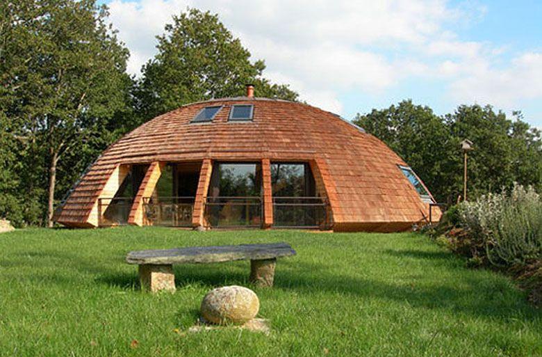Domespace la maison tournesol de patrick marsilli for Maison dome en bois