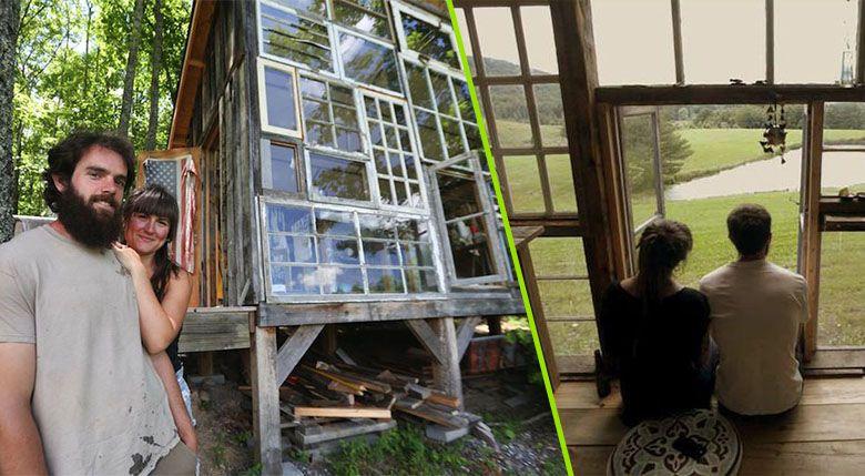 la cabane de verre ou l art de construire la maison de ses r ves pour 500. Black Bedroom Furniture Sets. Home Design Ideas