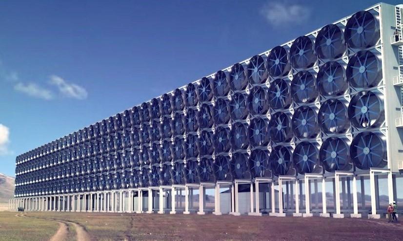 Un mur géant pour filtrer le CO2 de l'air