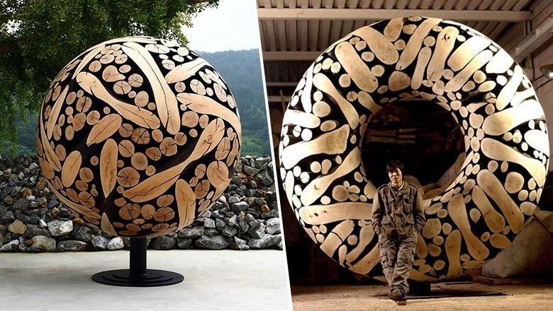 Il brule ces élégantes sculptures de branches pour leur donner vie