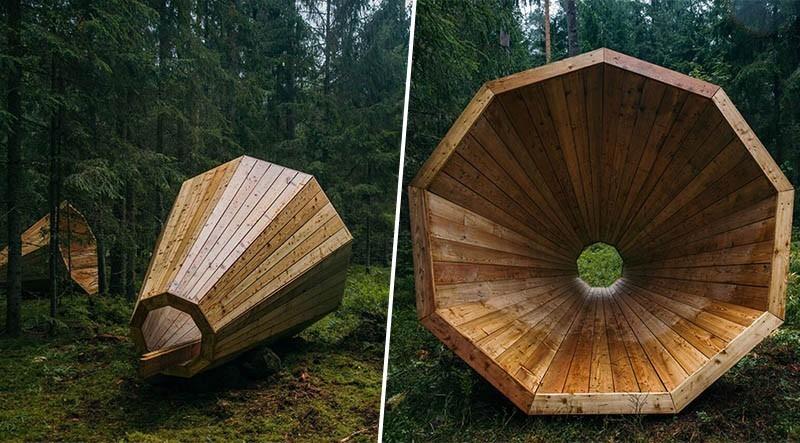 En Estonie, des sonotones géants permettent d'écouter la forêt