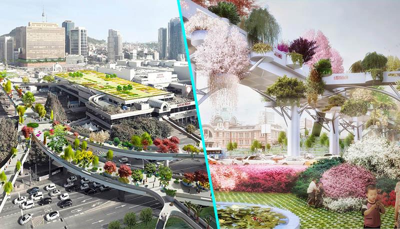 s oul une autoroute transform e en jardin suspendu le nouveau paradigme. Black Bedroom Furniture Sets. Home Design Ideas
