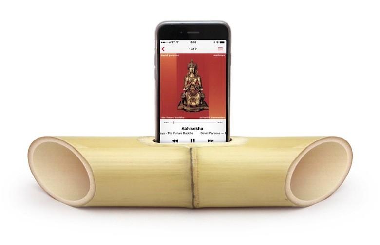 Des enceintes 100 cologiques pour smartphones for Fabrication d objet en bambou
