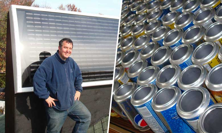 Diy comment fabriquer un chauffage solaire avec des for Chauffage piscine solaire fait maison